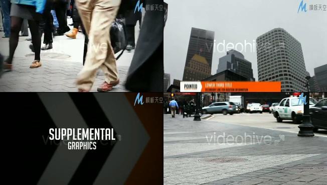 介绍城市生活的新闻字幕视频ae模板