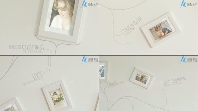 典雅婚礼家庭记录相册墙视频AE模板