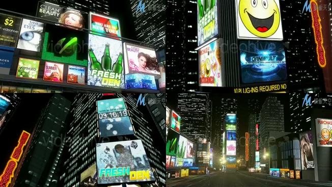 时尚高端的纽约时代广场产品宣传视频ae模板