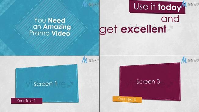 产品介绍及宣传的视频ae模板