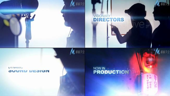 棚内电影拍摄宣传的ae模板