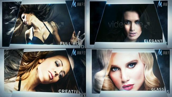 美女杂志写真照片展示ae模板