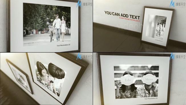 浪漫唯美的爱情相册照片展示ae模板