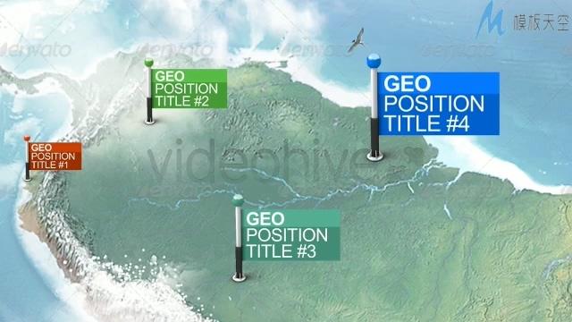 各种形状的图标记录地图位置的视频ae模板