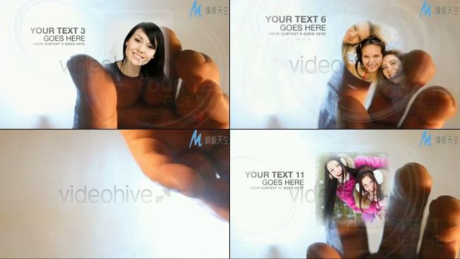 手指触摸展示相册之科技创意AE模板