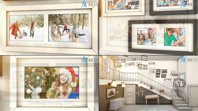 记忆之路之婚礼家庭生活相册视频AE模板