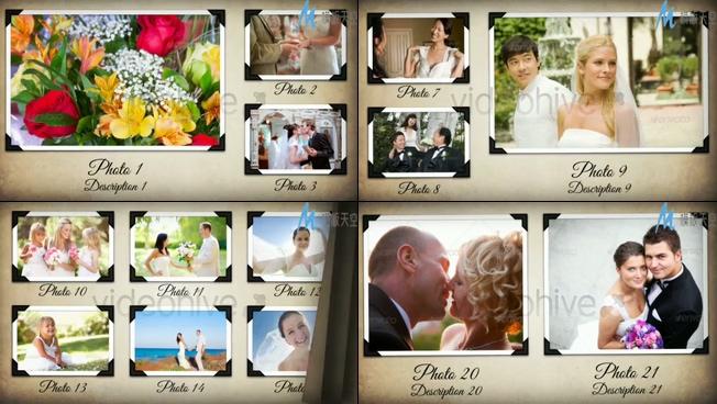 梦幻甜蜜的婚纱照片展示ae模板