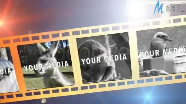 电影胶片照片倒计时视频ae模板