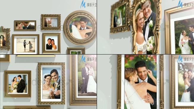 端庄典雅的婚纱照片展示ae模板