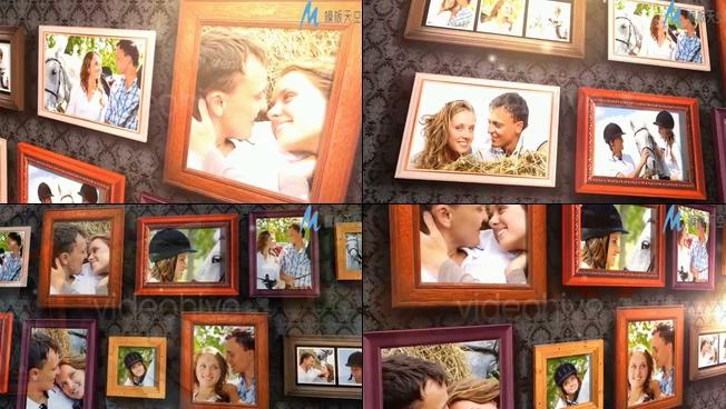 寂静唯美的爱情照片展示ae模板