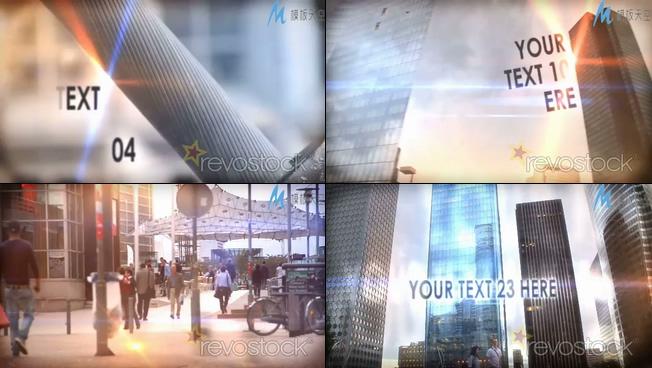 大都市生活方式的ae模板