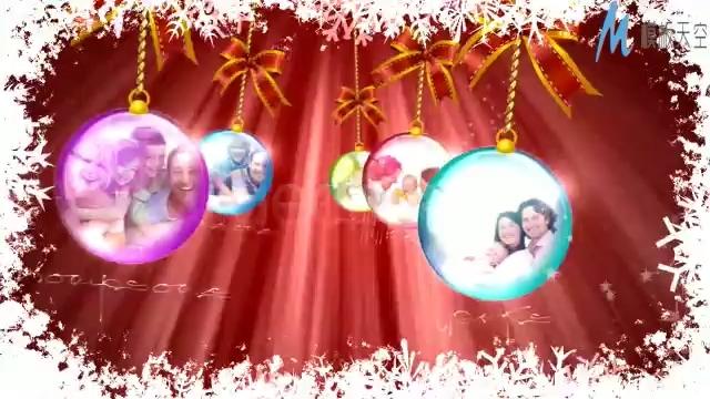 浪漫唯美的圣诞节日祝福ae模板