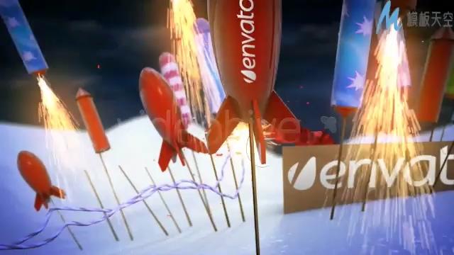 欢快喜庆的新年倒计时视频ae模板