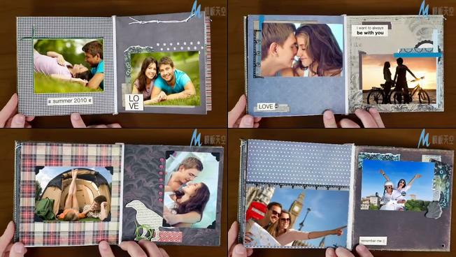 翻开甜蜜爱情相册的ae模板