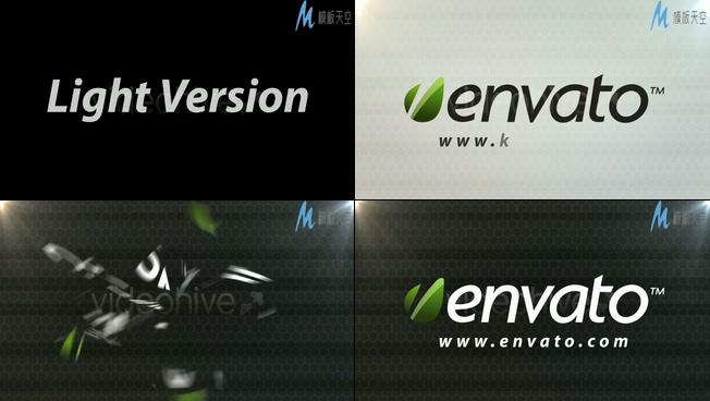 碎片片段重新组成企业logo的ae模板