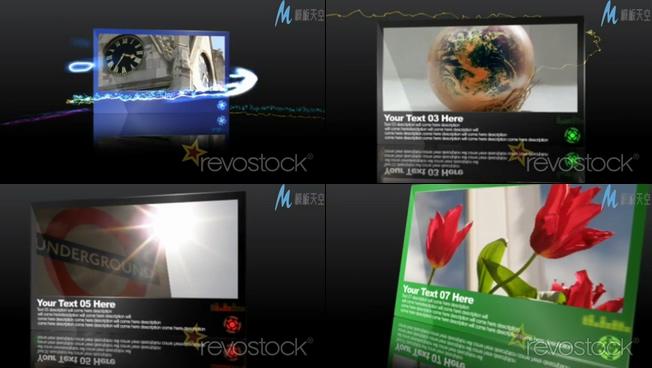 时尚立体照片展示ae模板