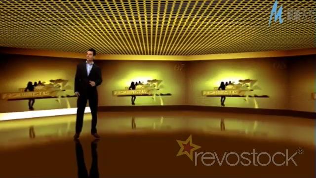 虚拟演播厅转正屏幕的ae模板