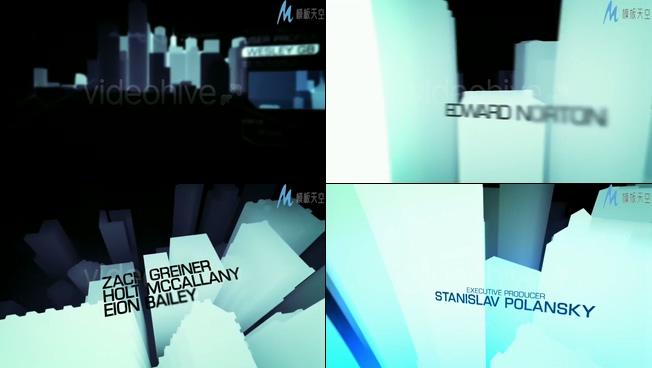 震撼唯美的白色闪光柱子时尚宣传ae模板