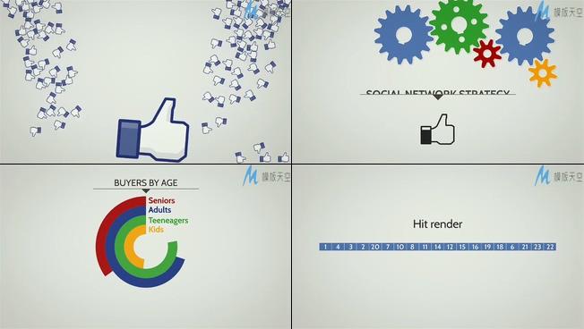 动画表现出商务企业宣传的ae模板
