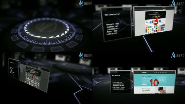 高科技网络社区产品宣传的ae模板