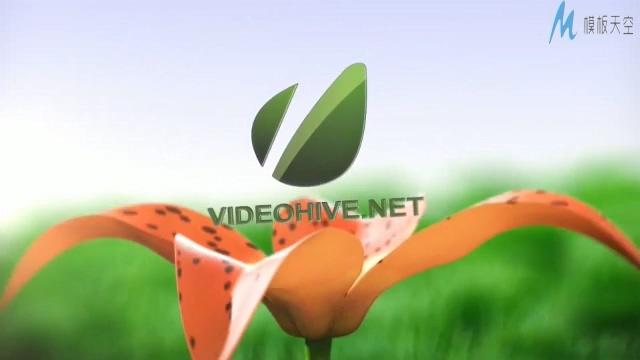 树苗茁壮成长开出鲜花的励志公司宣传ae模板
