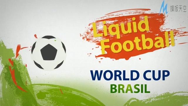 时尚动感的足球比赛宣传ae模板