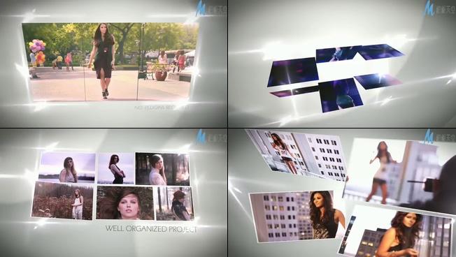 时尚动感的街拍大片相册ae模板