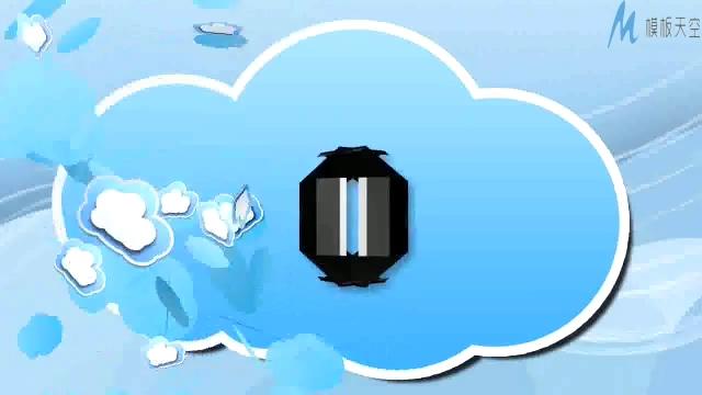 时尚动感的多云短片动画演示ae模板