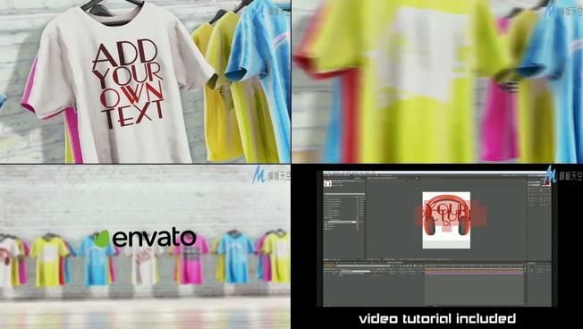 时尚创意T恤企业宣传ae模板