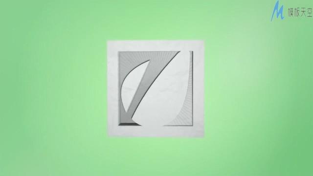 简单时尚的剪纸显示企业标志的ae模板