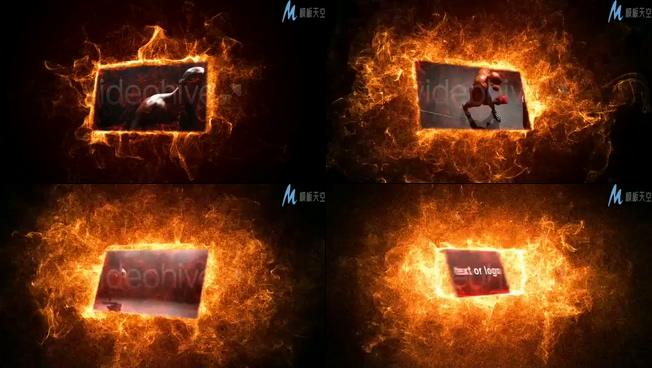 烈火燃烧运动相册的ae模板