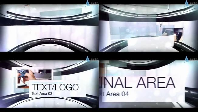 时尚动感的全息商业公司宣传ae模板