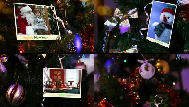 喜庆欢乐的圣诞节祝福迎接新年的ae模板
