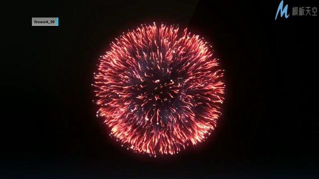 唯美梦幻的烟花绽放迎接新年的ae模板