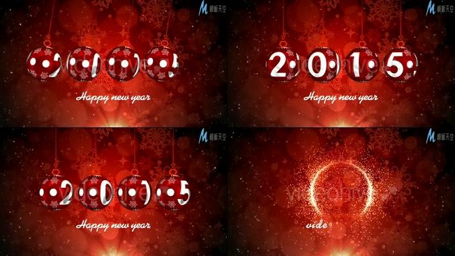 欢快喜庆的大红灯笼旋转迎接新年的ae模板