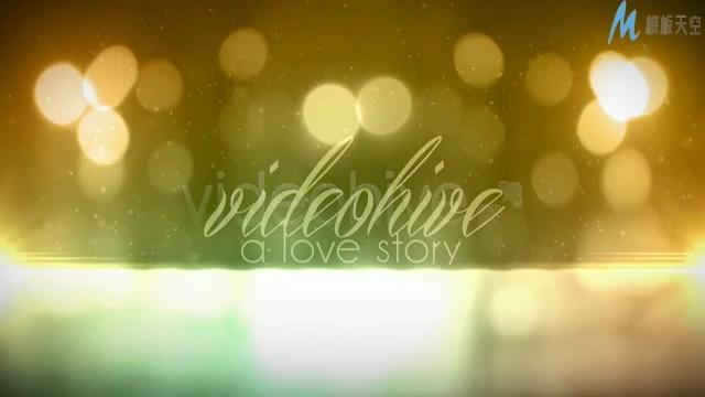 浪漫唯美的星光粒子电影片尾宣传ae模板