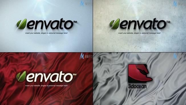 时尚3D企业特效logo宣传ae模板