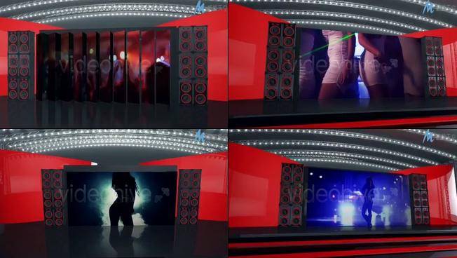 动感震撼的晚会舞台宣传展示ae模板
