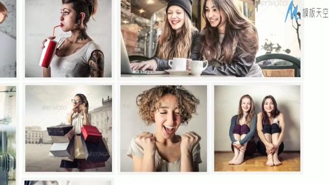 时尚动感的宣传相册排版ae模板