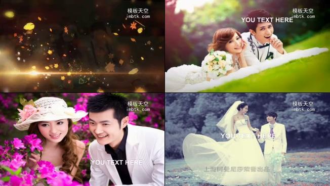 会声会影x6枫叶浪漫唯美婚礼相册模板