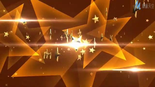 动感震撼的金色星星音乐晚会开场宣传的ae模板