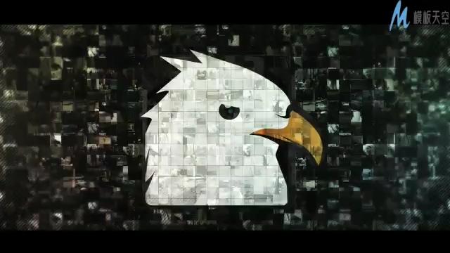 图片汇聚成logo片头视频的ae模板
