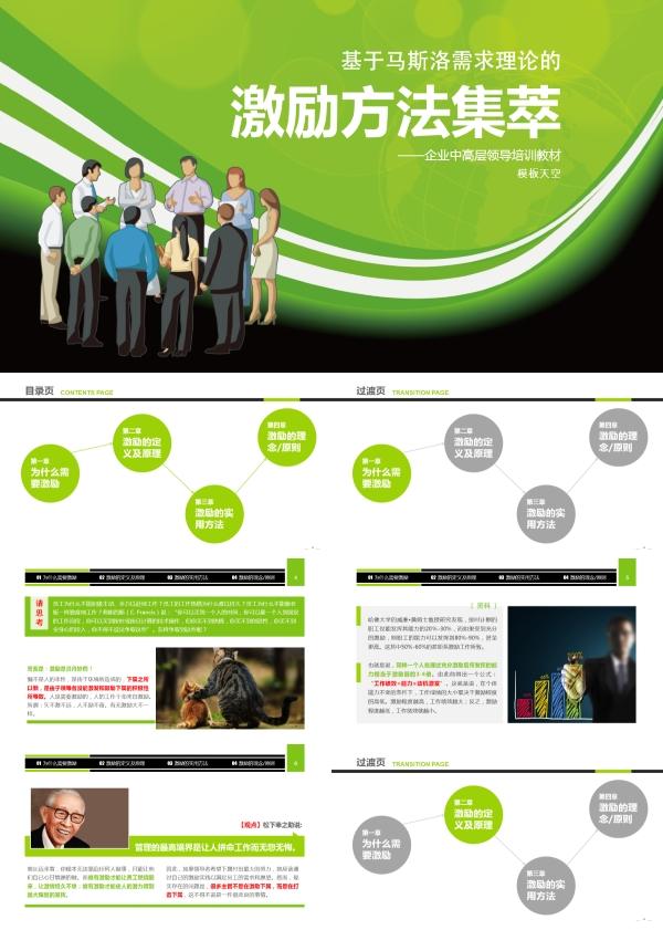 企业中高层领导培训教材-激励方法PPT模板