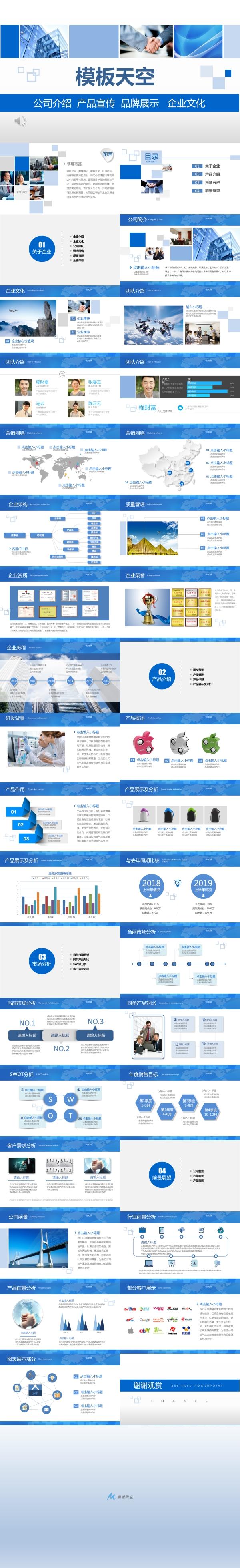 公司产品介绍及企业文化的PPT模板
