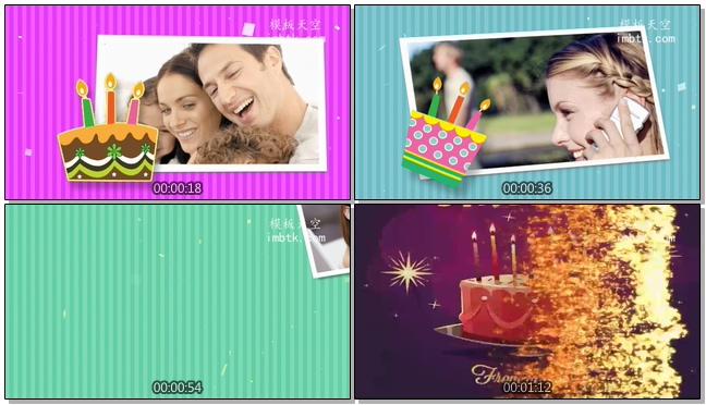 精美的生日视频相册会声会影模板