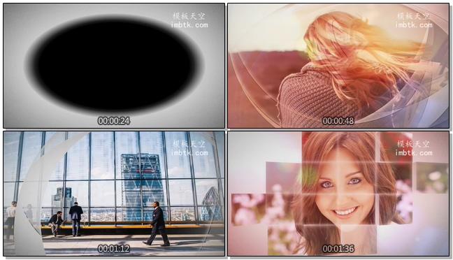 唯美简约的动态视频相册会声会影X10模板