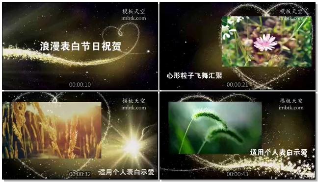 七夕情人节浪漫表白视频相册模板
