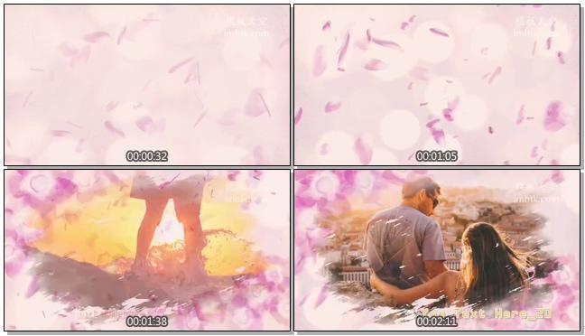 鲜花遮罩浪漫爱情婚礼相册会声会影模板