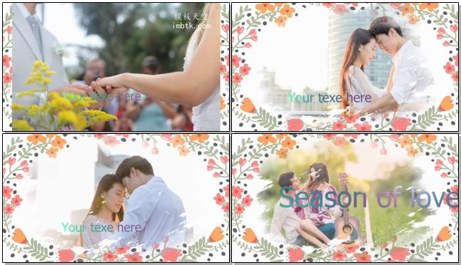 我们的恋爱故事婚礼电子相册视频模板
