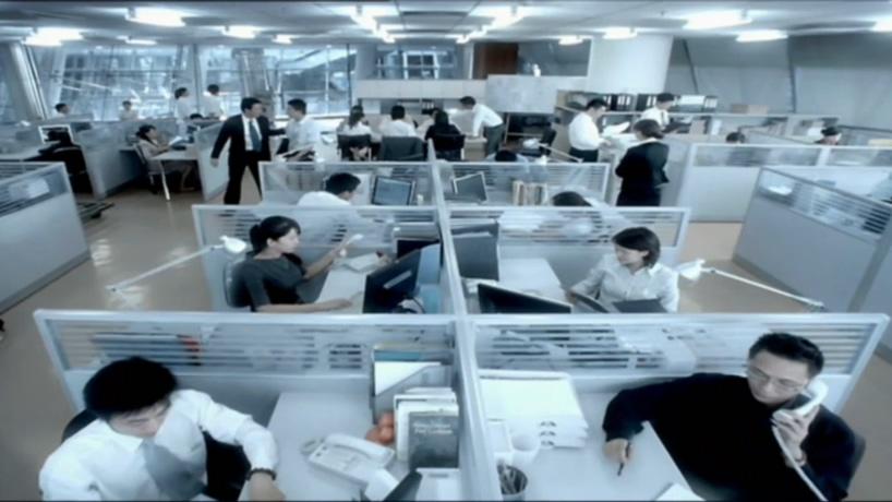 上班下班忙碌的商务工作庆祝成功击掌视频素材